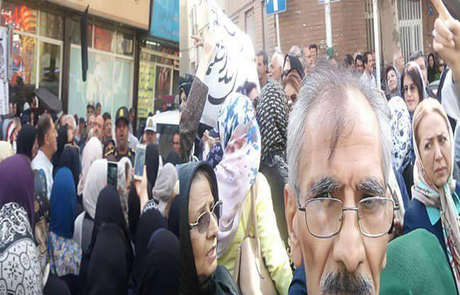 تصاویری از تجمع اعتراضی بازنشستگان کشوری و لشگری و تامین اجتماعی ...